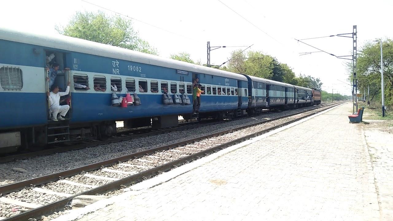 Delhi Jind Passenger arrive and departure from mundka railway stations...