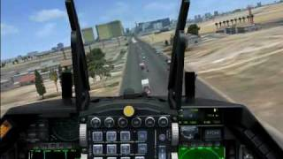 FSX F-16 Fighting Falcon through Las Vegas