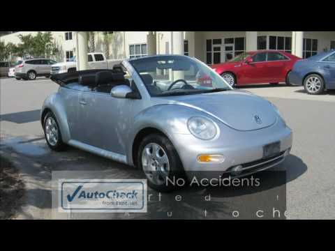 New Beetle - 2003 Volkswagon Beetle Convertible Silver Manual Transmission