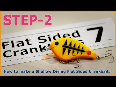 How to make a Shallow Diving Flat Sided Crankbait. (Step-2 / Painting fishing lures)