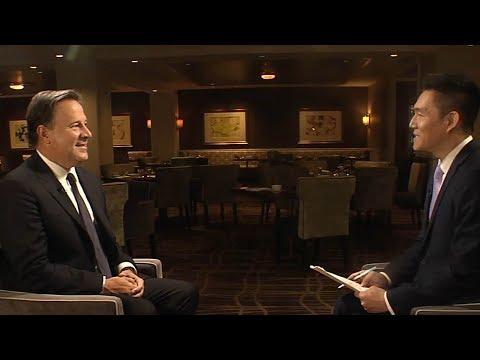 Panamanian President, Juan Carlos Varela, discusses renewed relations with China