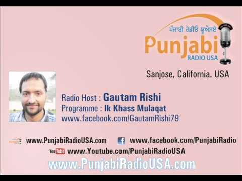 Jaspal Bhatti Interview by Gautam Rishi, Punjabi Radio USA.wmv