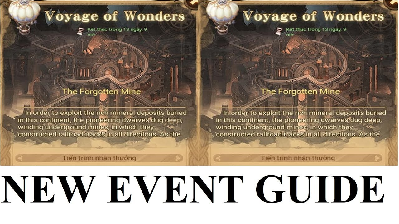 NEW EVENT VOYAGE OF WONDERS THE FORGOTTEN MINE AFK ARENA VIDEO GUIDE