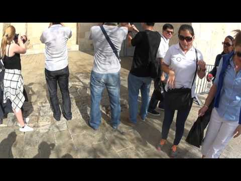 Jerusalem, Israel - Explanation of the Jaffa Gate and its surroundings