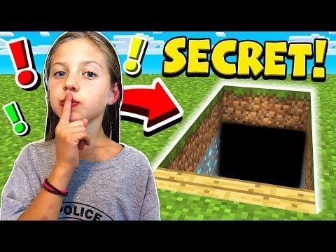I FOUND MY LITTLE SISTER'S SECRET MINECRAFT WORLD!