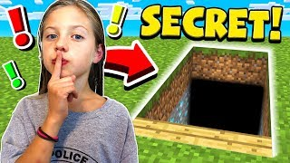 I FOUND MY LITTLE SISTER'S SECRET MINECRAFT WORLD!