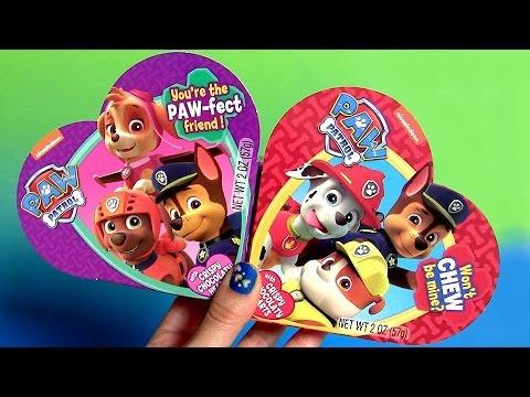 Puppies Valentine's Day Paw Patrol With Num Noms Surprises And SpongeBob Squarepants