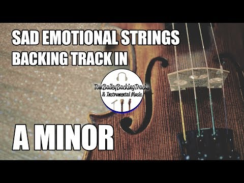 Sad Emotional Strings Backing Track In A Minor