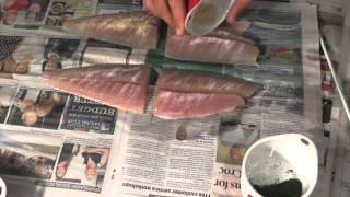 How to make Gravlax Mackerel super easy Andysfishing Fishing Video Big Fish EP.161