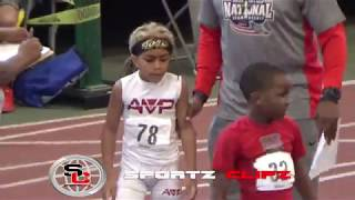 6 year old Taurean Ellinger wins the 400m AAU Track Race | STANDOUT