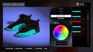 2k shoe creator air jordan 12 gamma blue