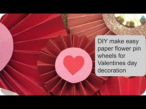 How to make paper fan flower pinwheel - tutorial