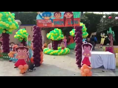 Chota Bheem Theme Party Decoration In Play School Delhi 9891478183