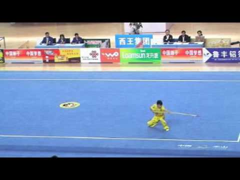 Compétition Kungfu (Wushu) Lance en Chine