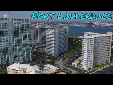 Fort Lauderdale Beach Drone Video Port Everglades