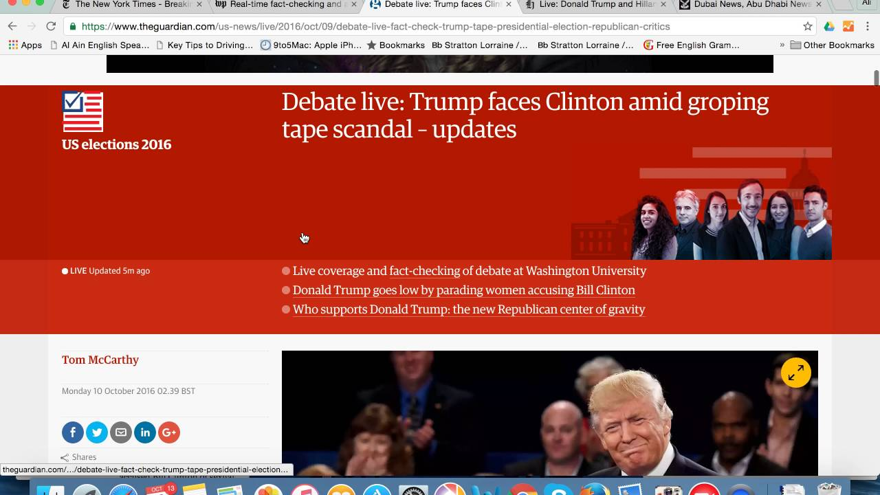 Us Election 2016 Debate Live Coverage On Some News Websites