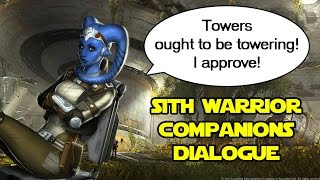 SWTOR: Sith Warrior Companions ambient dialogue