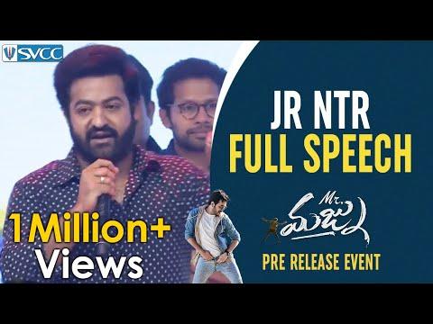 Jr NTR Full Speech | Mr Majnu Pre Release Event | Nagarjuna | Akhil Akkineni | Naga Chaitanya