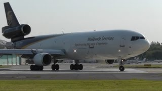 UPS MD-11 takeoff, Warsaw Airport, EPWA