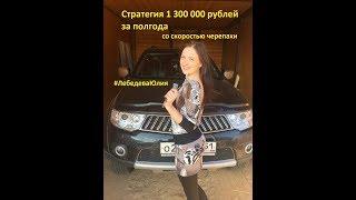 Стратегия 1 300 000 рублей за полгода со скоростью черепахи