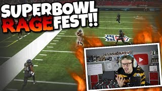 $150 Controller Gets Destroyed in SuperBowl because of this... Madden 19 Rage Fest!!