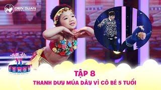 Biệt tài tí hon | tập 8: Cô bé múa Ấn Độ siêu đỉnh phạt Thanh Duy, Trịnh Thăng Bình múa dây