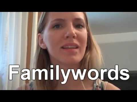 Norwegian Language: Family-words