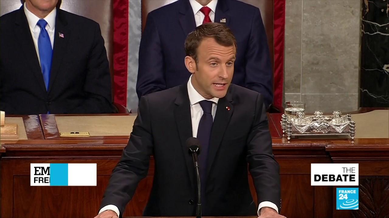 Macron on Capitol Hill: Speech Before Congress Emphasizes 'Democratic Values'