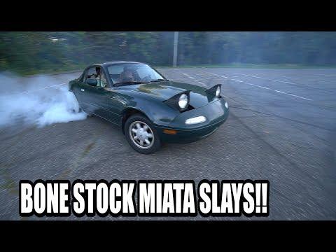 DRIFTING A BONE STOCK MIATA? (NEW CAR)