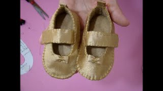 DIY técnica como cobrir sapato ou sandália de feltro com tecido