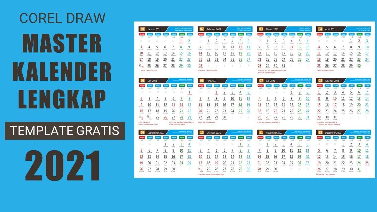 Dowload Master Kalender 2021 Lengkap Youtube