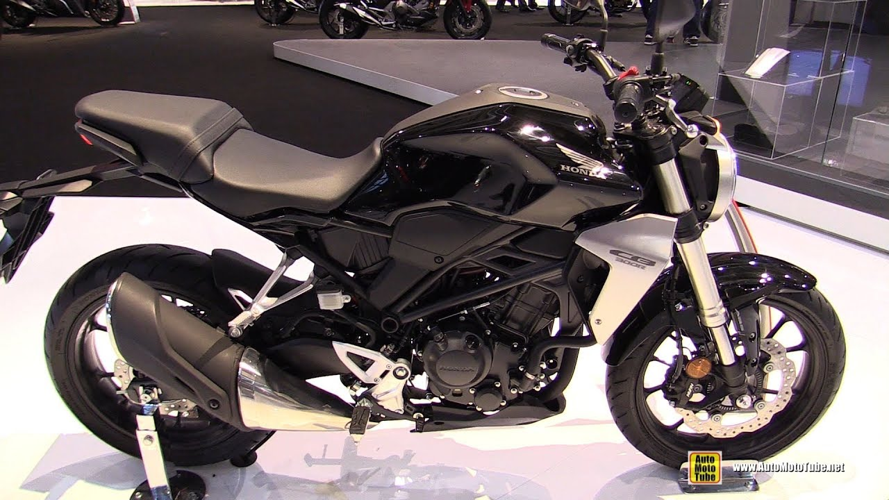Honda Forza 300 2018 >> 2018 Honda CB300R Neo Sports Cafe - Walkaround - 2017 EICMA Milan Motorcycle Exhibition - YouTube
