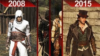 Evolution of Assassin's Creed Graphics | PC | ULTRA | 2008 - 2015