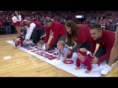 Wisconsin Basketball Halftime Baby Race