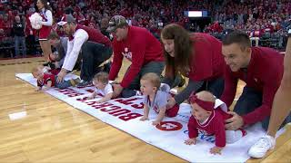 Wisconsin Basketball Halftime Baby Race