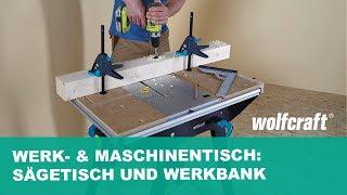 Werk- & Maschinentisch MASTER cut 1500 : Sägetisch und Werkbank in einem | wolfcraft