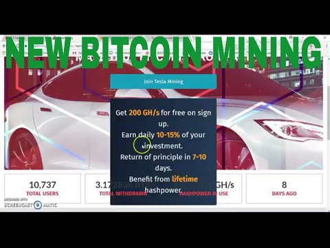 Teslamining-New Bitcoin Mining Site 2018 | 200 GH/S Free Bonus - Hindi