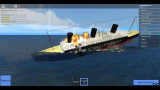 Sinking of the RMS Ocean / SS Tsunami | Roblox TSS