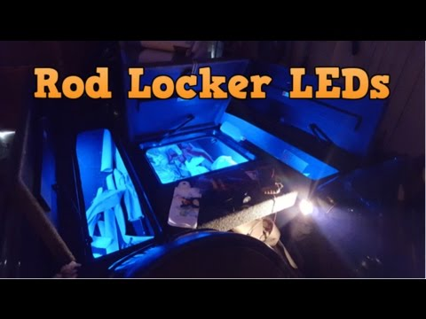 Rod Locker Led Lights For My Bass Boat Youtube
