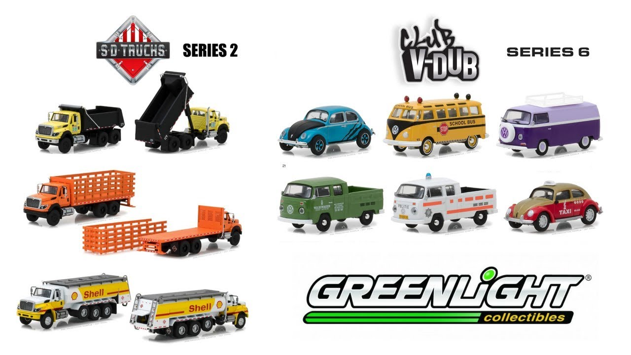 GreenLight Collectibles upcoming Club Vee-Dub Series 6 and Trucks Series 2