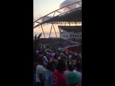 Exécution de lhymne national du Gabon