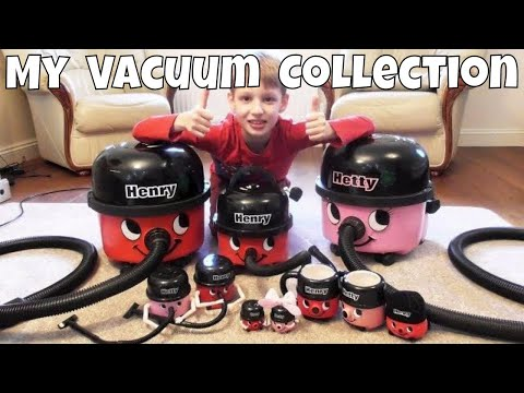 AWESOME Numatic VACUUM CLEANER COLLECTION ~ Child Collector of HENRY HOOVER & HETTY HOOVER Vacuums