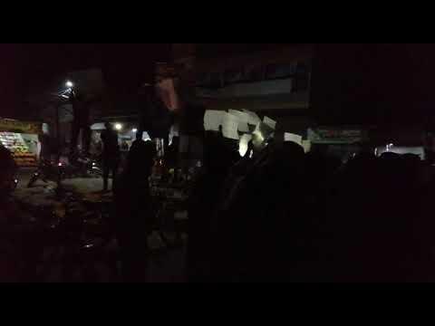 مظاهرة مسائية في طفس تضامنا مع إدلب
