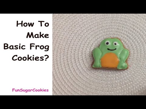 how to make frog decorated cookies - decorated cookies with royal icing - butik kurabiye yapimi