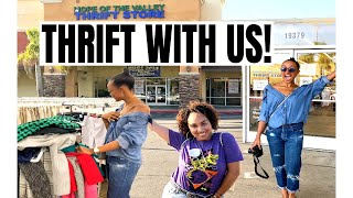 Thrift With Us   SHE BOUGHT THE WHOLE STORE!   Thrifting For The First Time