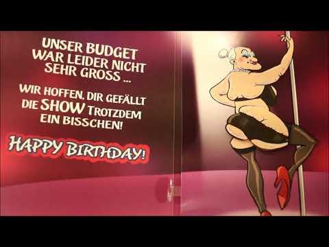 Musikkarte Geburtstag, Depesche Klappkarte, Überraschung mit Stripperin, Glückwunschkarte