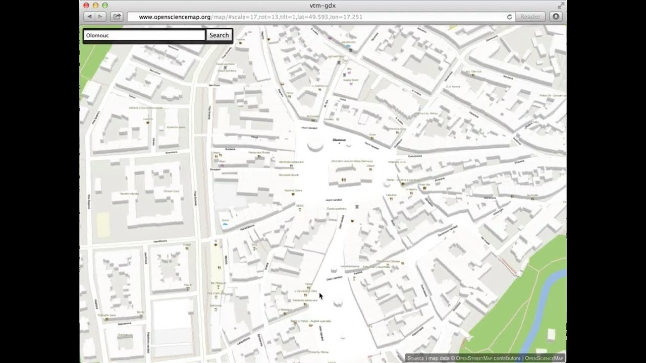 Vector map tiles in open-source OpenStreetMap WebGL Viewer (OSM  OpenScienceMap)