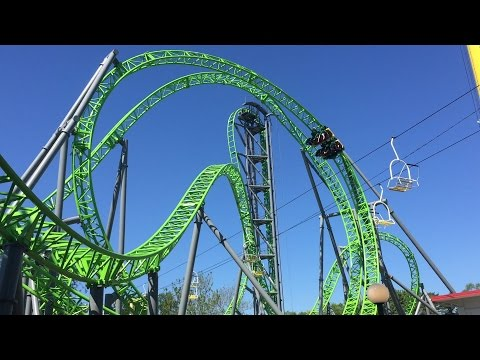 The Monster New Roller Coaster at Adventureland Des Moines Iowa