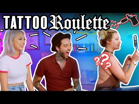 Tattoo Roulette (Game Show!) ep. 5 - Romeo Lacoste, Funny Tattoo, Eating Bugs