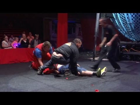 Dad Knocked Unconscious After Circus Trick Goes Wrong